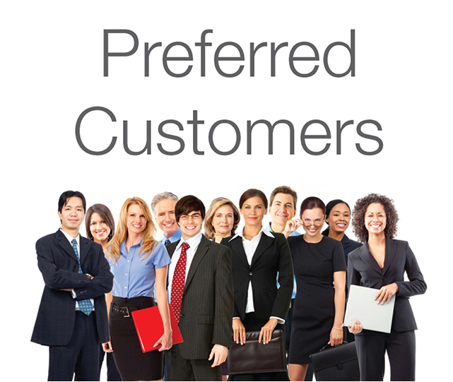 Preferred Customers Leaflet